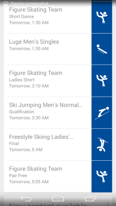 Sochi 2014 Google Now 3