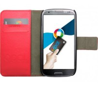 Red Flip Leather Galaxy S3 Opal Cover