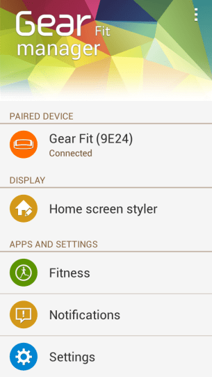 Gear Fit Manager looks pleasant enough
