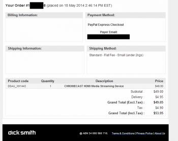 Chromecast DSE order - annotated