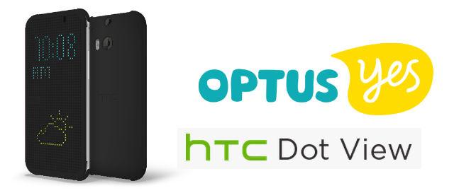 Optus HTC Dot View M8