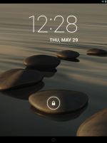 Lock Screen of the Acer Iconia A1-830
