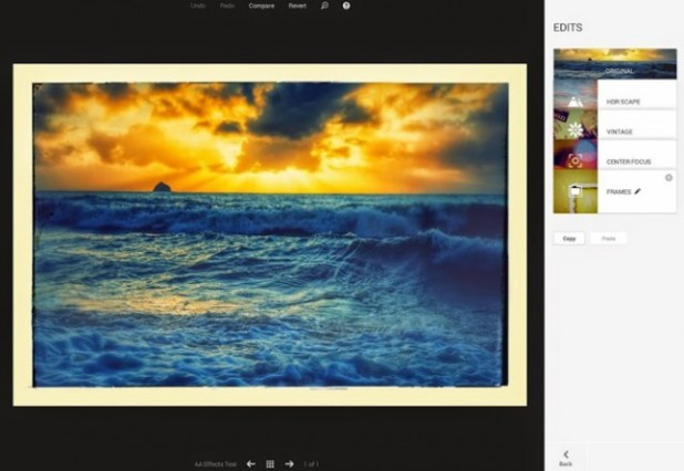 Google+ Photos reditting function