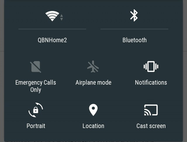 Android L Quick Settings