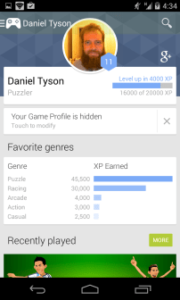 Google Play Games - My Profile