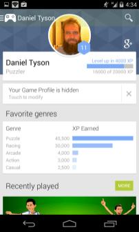 Google Play Games - My Profile