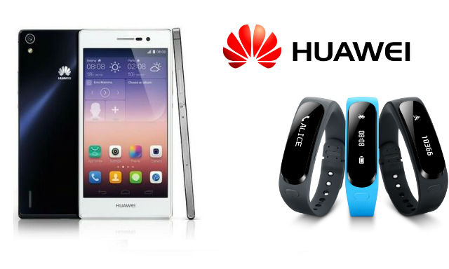 Huawei Ascend P7 and Talkband