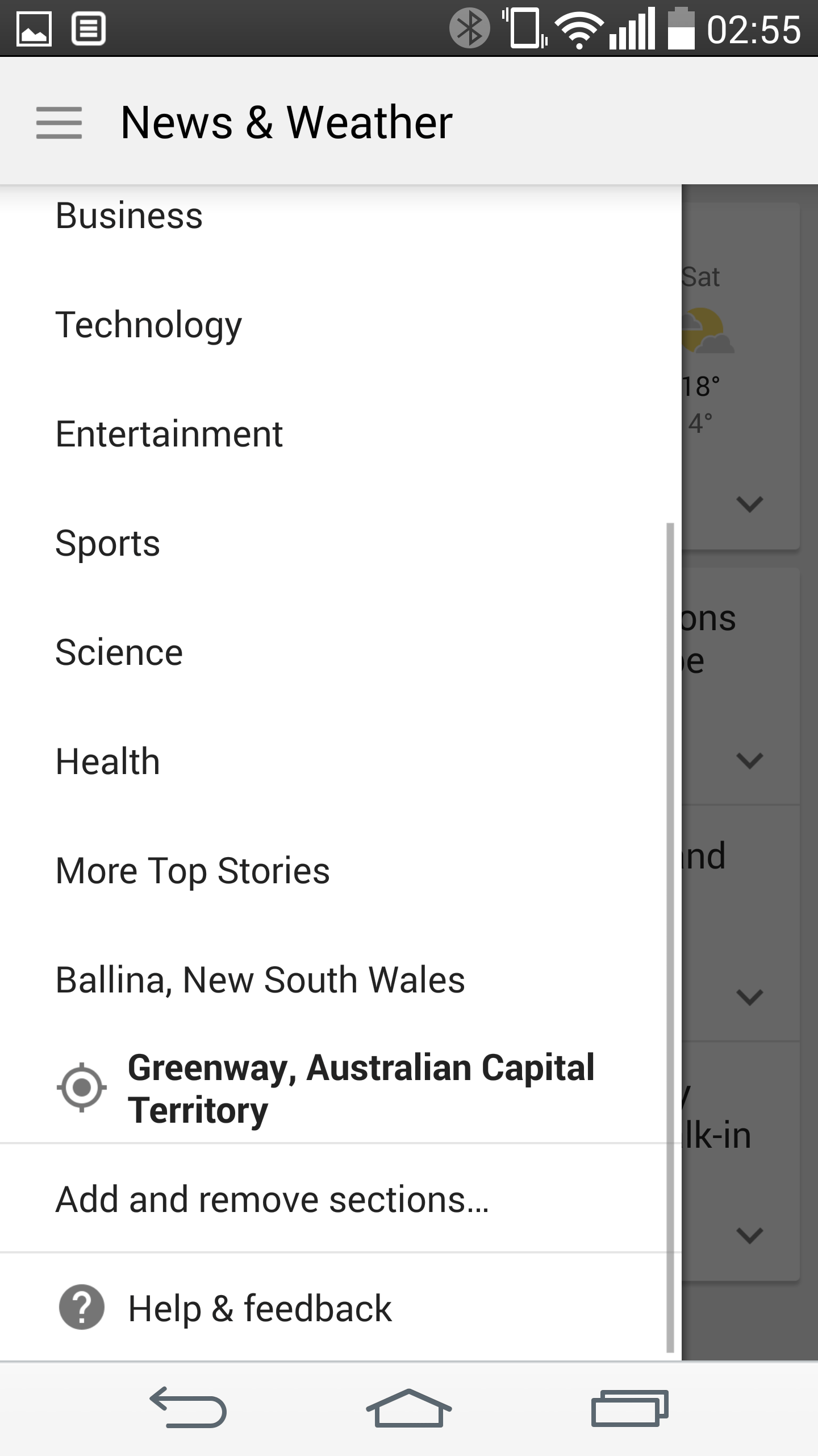 Nav Drawer - Dual Locations and Topics