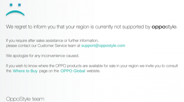 OppoStyle not supported