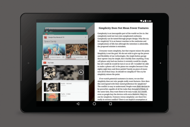 Android Multi-Window Tablet