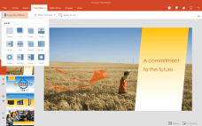 Add transitions in the PowerPoint for Android tablet preview