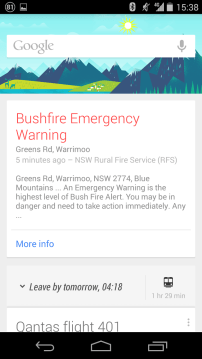 Android Google Now Card
