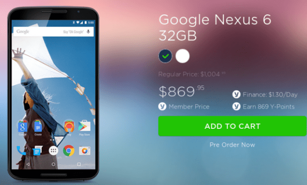Cheaper Nexus 6 Yatango