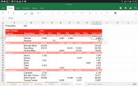 Easily edit documents in the Excel for Android preview