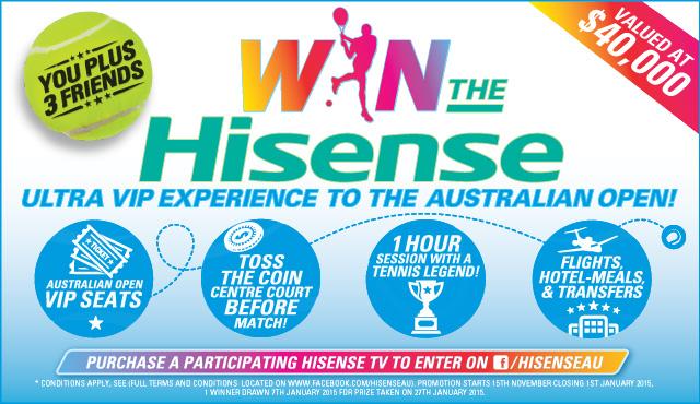 HiSense - Live Like a Tennis Pro Competition