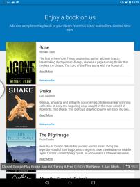 Nexus 9 - Books (Free Content Offer 2)