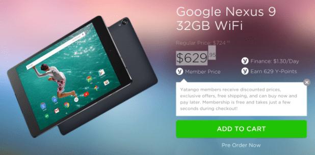 Yatango Nexus 9