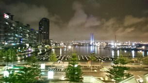 Melbourne docklands by night