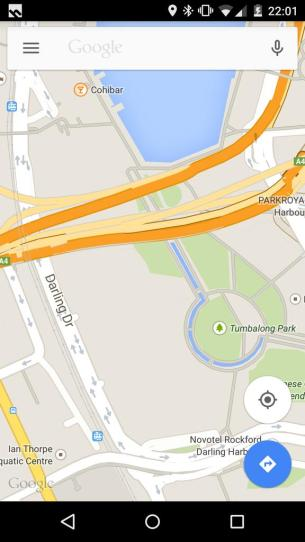 Google Maps - Darling Harbour (No Exhibition Hall)