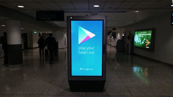 Google Play Music Airport Installations