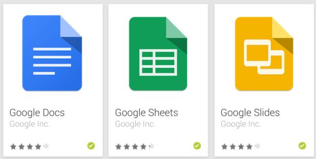 Docs - Slides - Sheets