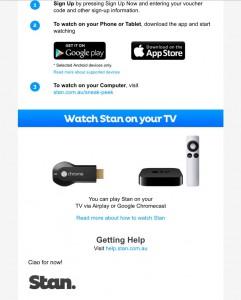 Stan Email Screenshot