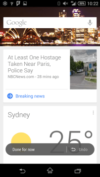 Google Now - Sydney Night