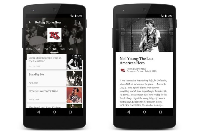 Google Play Newsstand - Rolling Stone