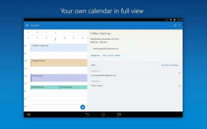 Outlook for Android 4