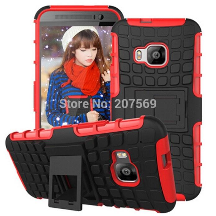 For-HTC-One-M9-Hima-Armor-Case-PC-TPU-Hybrid-Curve-KickStand-Impact-Armor-Hard-Protect