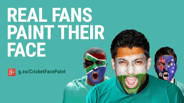 Google+ Face Paint Background Image