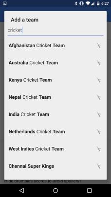 Select Cricket