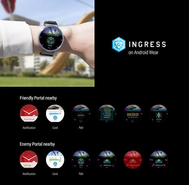 Ingress on Android WEar