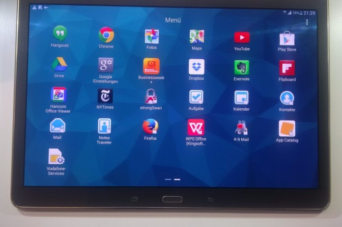 Blackberry IBM Samsung Tab S 10.1