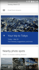 Google Now - Your Trip to 1
