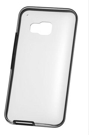 HTC One M9 Clear Case w Onyx Black Border and Clear Back