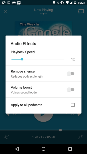 Pocket Casts - Audio Effects
