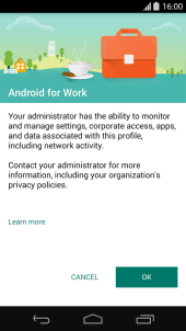 Screenshot - Android for work 1