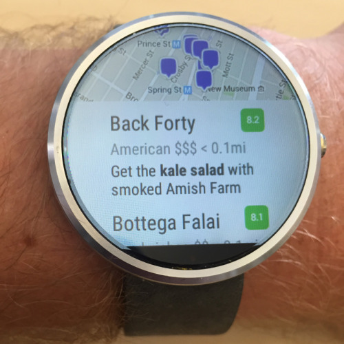 Foursquare Android Wear