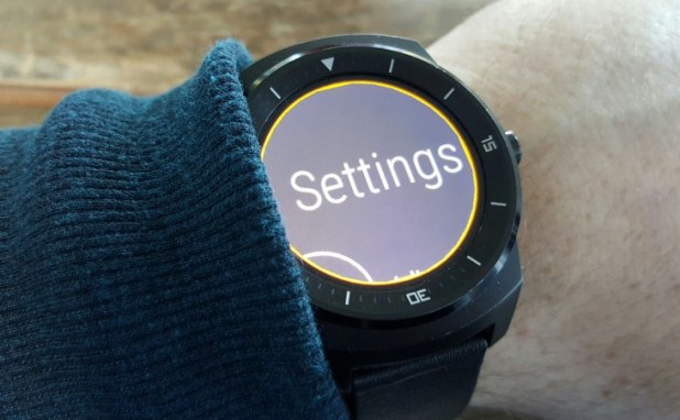 Android Wear screen magnification - settings