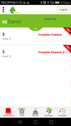 Cardless Cash in app