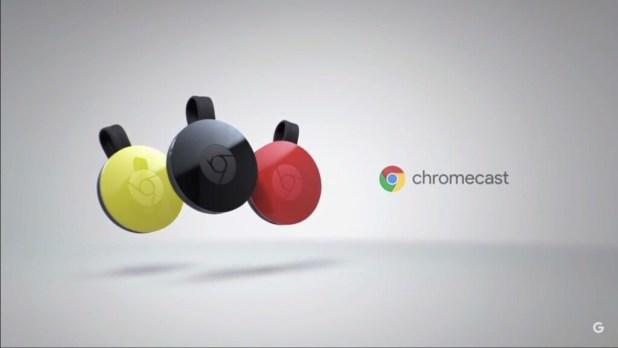 Chromecast V2 - Black - Lemonade and Coral