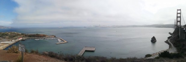 Golden Gate Bridge and Alcatraz