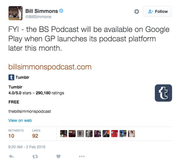 Bill Simmons Deleted Tweet