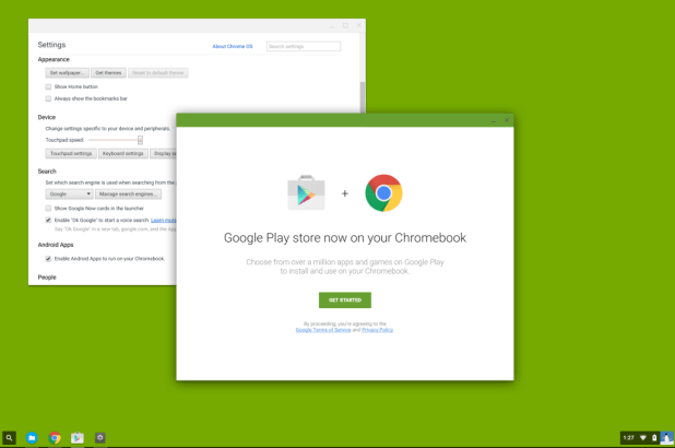 Google Play on Chrome OS Tutorial start