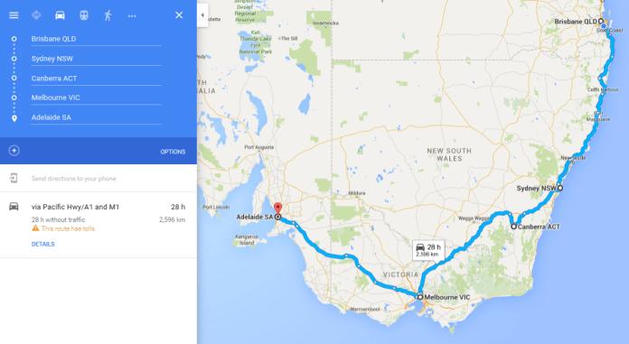 Google maps multi destination