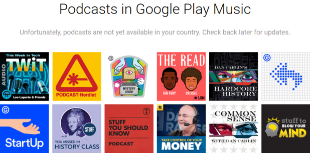 Play Music Podcasts