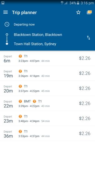 Travel & amount