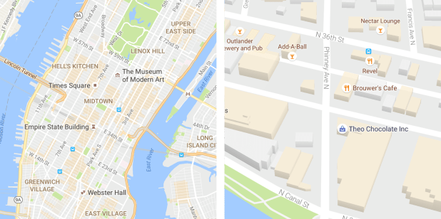 Google Maps redesign 2