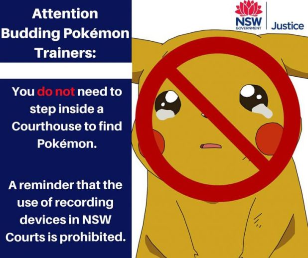NSW Justice Pokemon